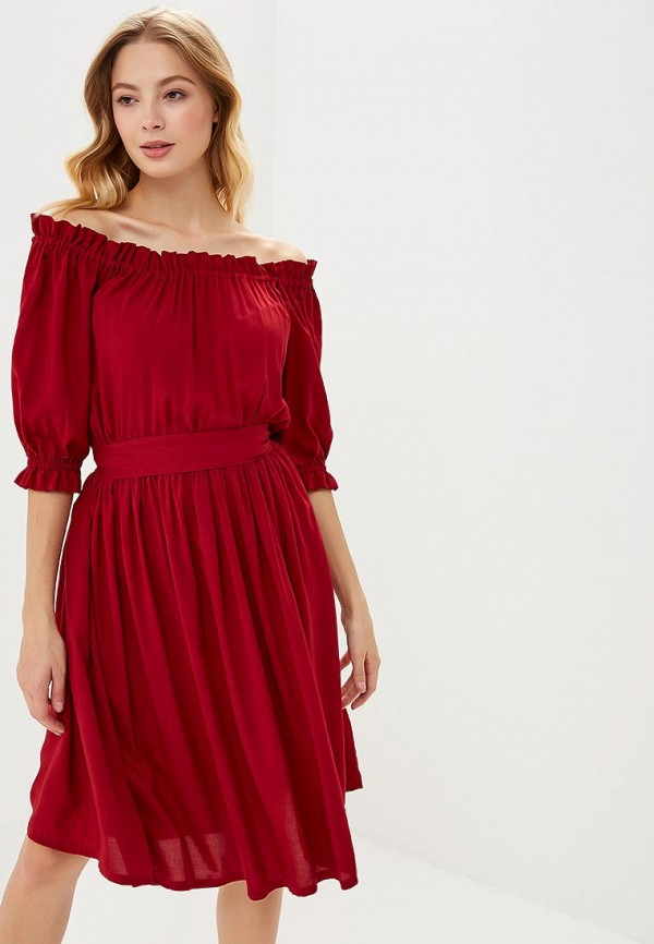 Купить Платье Alina Assi, MP002XW1GQ1W, бордовый, Осень-зима 2018/2019