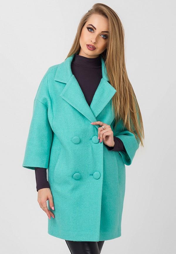 Купить Пальто Leo Pride, mp002xw1gq6u, бирюзовый, Осень-зима 2018/2019