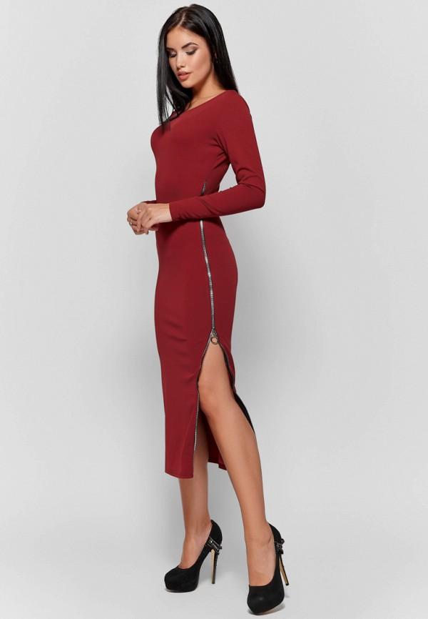 женское вечерние платье karree, бордовое