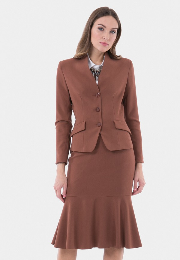 женский жакет vladi collection, коричневый