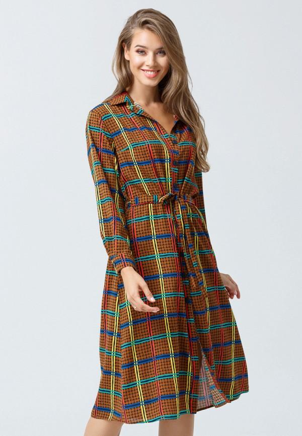 женское платье oks by oksana demchenko, коричневое