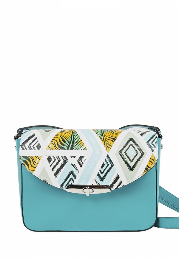 женская сумка fabula, голубая