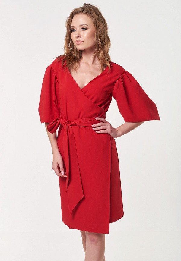 Платье Irma Dressy Irma Dressy MP002XW1GQM2 платье с поясом и v образным вырезом irma dressy