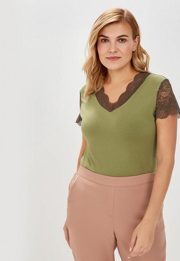 женская футболка averi, зеленая