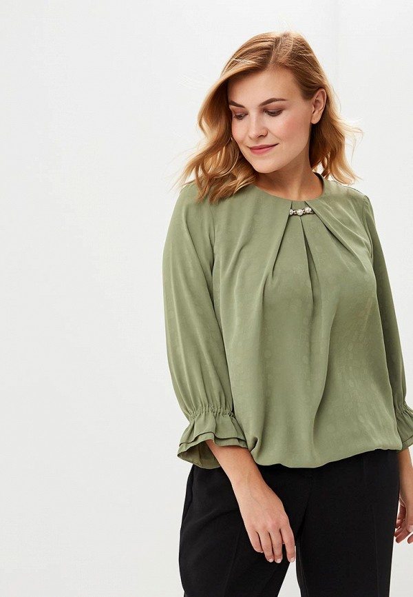 женская блузка averi, зеленая