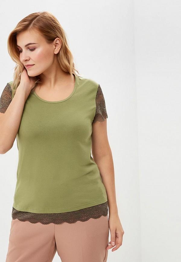 женская футболка averi, хаки
