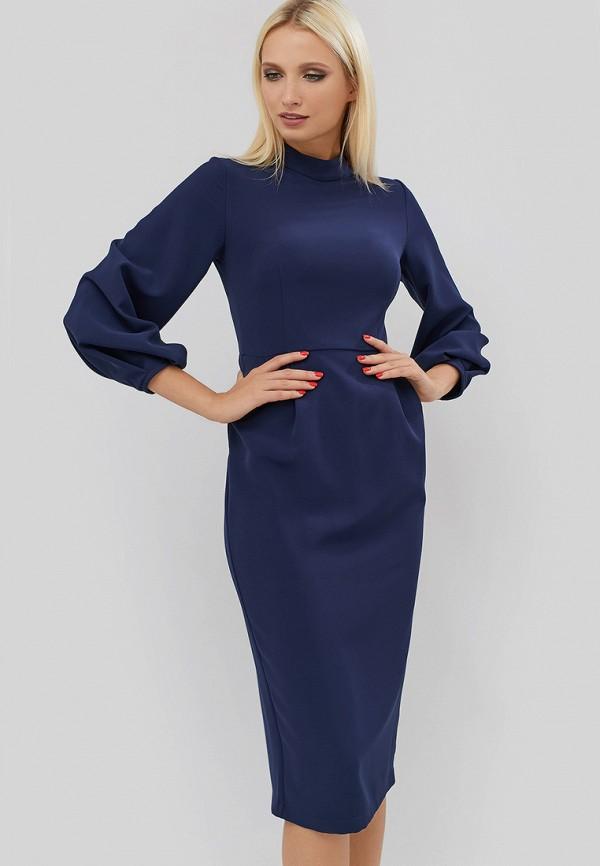 женское платье-футляр cardo, синее