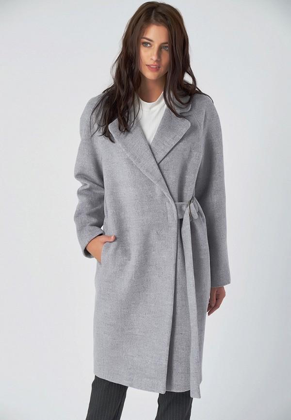 женское пальто fly, серое