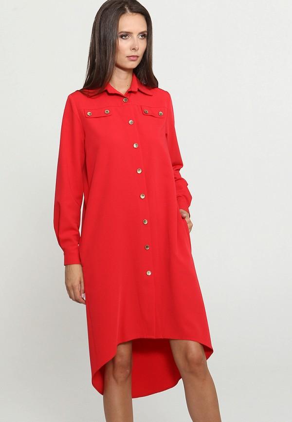Купить Платье MARI VERA, MP002XW1GRHO, красный, Осень-зима 2018/2019