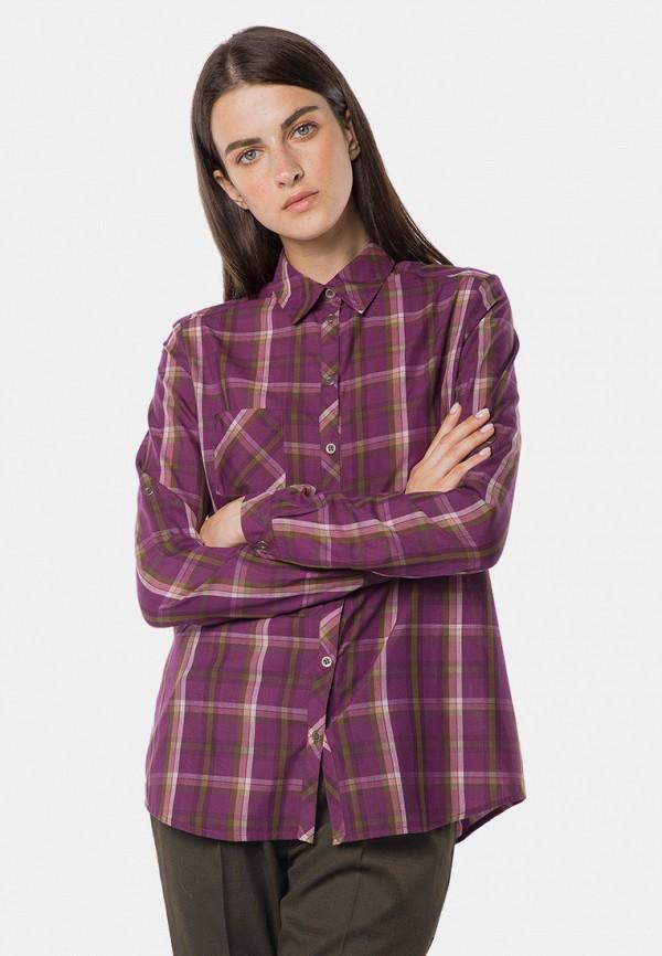женская рубашка с длинным рукавом mr520, фиолетовая
