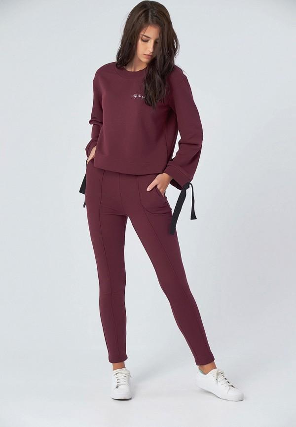 женский спортивные спортивный костюм fly, бордовый