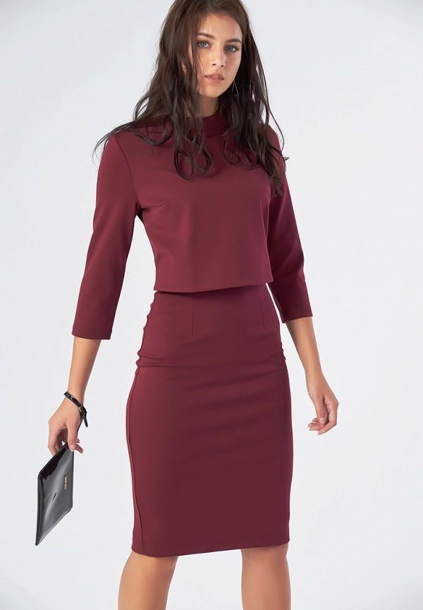 Купить Платье Fly, MP002XW1GS7E, бордовый, Осень-зима 2018/2019