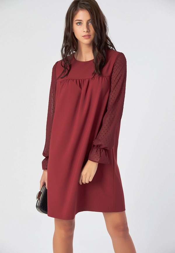 Купить Платье Fly, MP002XW1GS7O, бордовый, Осень-зима 2018/2019