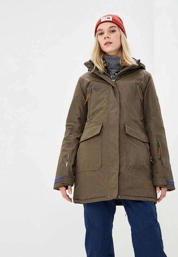 Купить Куртка горнолыжная Snow Headquarter, mp002xw1gsaw, хаки, Осень-зима 2018/2019