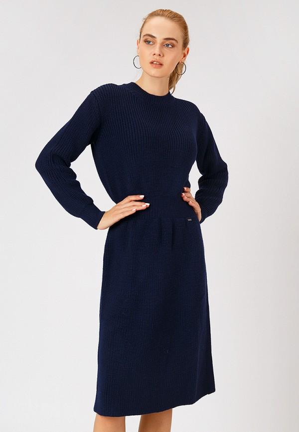 женское платье finn flare, синее