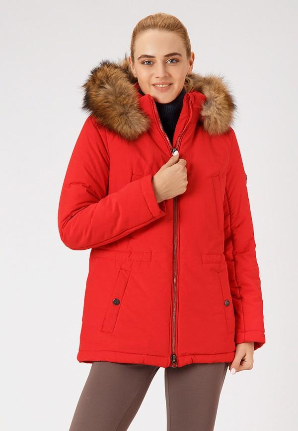 женская куртка finn flare, красная