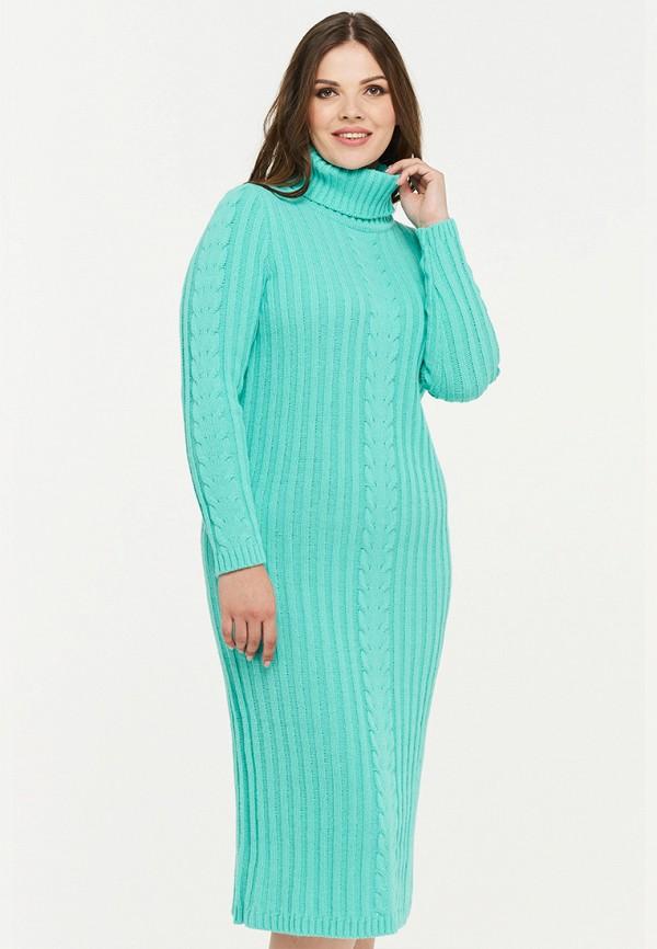 женское платье миди vay, бирюзовое