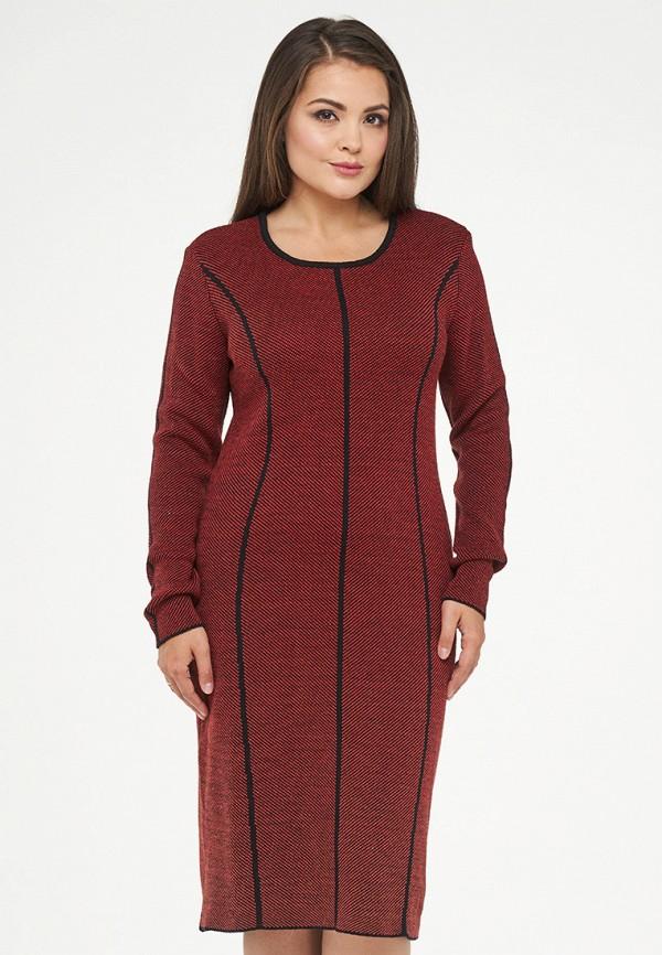 женское платье миди vay, бордовое