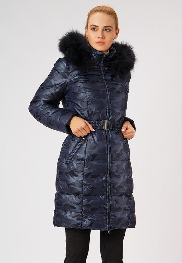 женский пуховик finn flare, синий