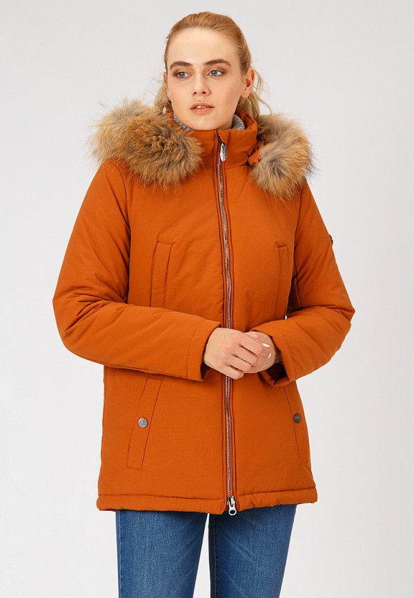 женская куртка finn flare, оранжевая