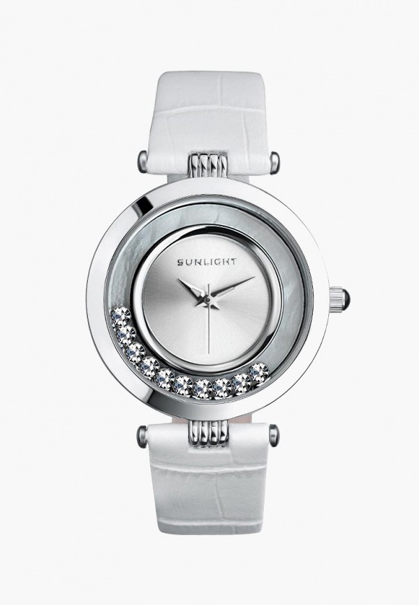 женские часы sunlight, белые