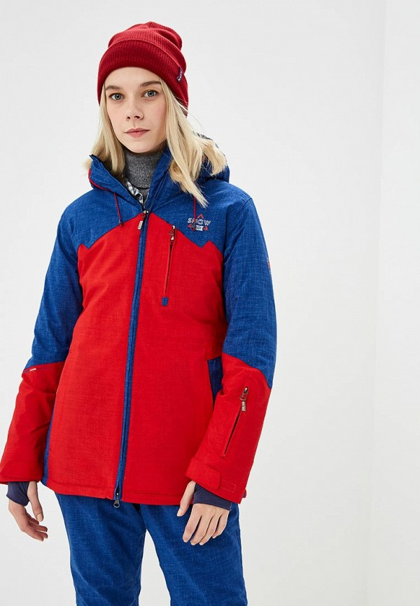 Купить Куртка горнолыжная Snow Headquarter, mp002xw1gsm4, красный, Осень-зима 2018/2019