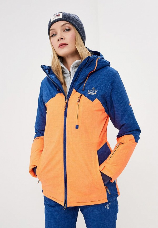 Купить Куртка горнолыжная Snow Headquarter, mp002xw1gsm5, оранжевый, Осень-зима 2018/2019