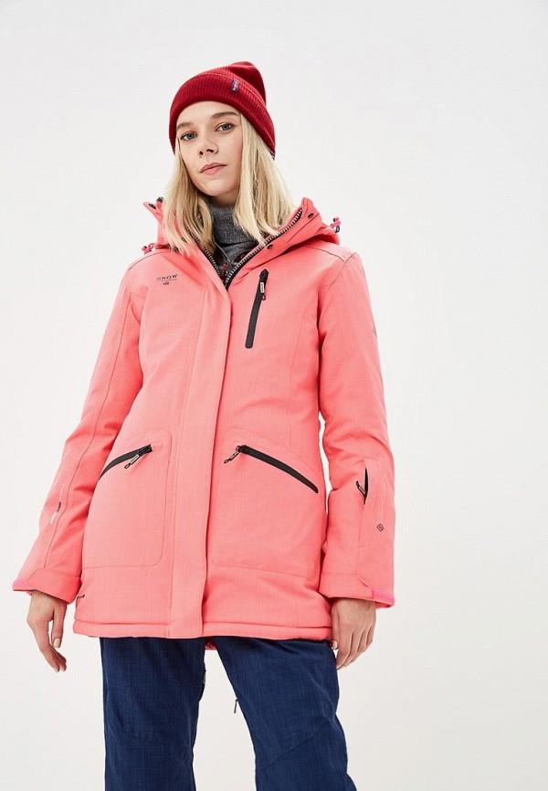 Куртка горнолыжная Snow Headquarter, mp002xw1gsyq, коралловый, Осень-зима 2018/2019  - купить со скидкой