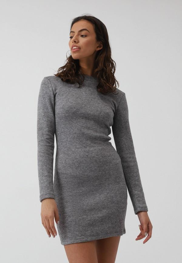 Фото - Женское платье Lime серого цвета