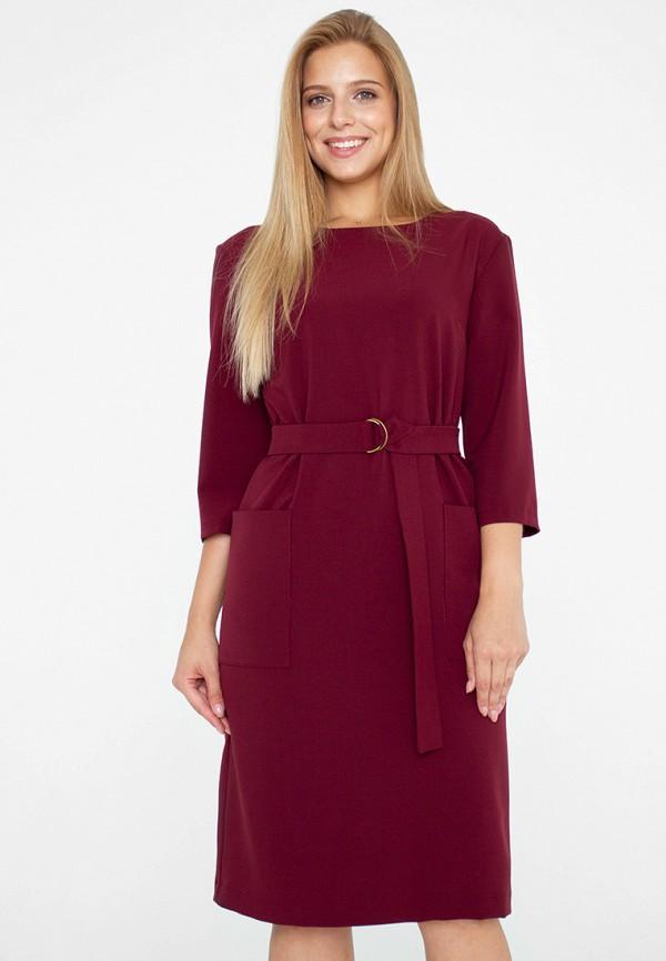 женское платье миди eliseeva olesya, бордовое