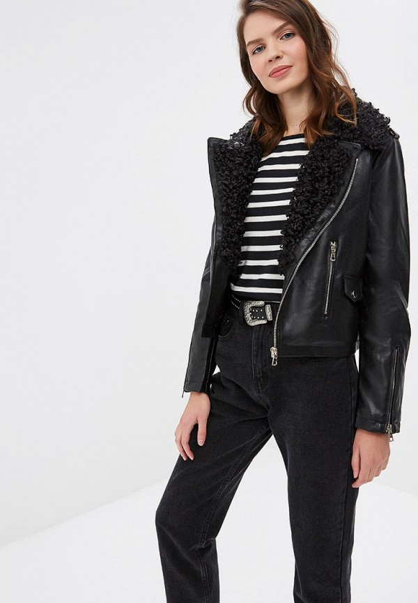 Куртка кожаная Top Secret Top Secret MP002XW1GTLJ black choker sleeveless crop top