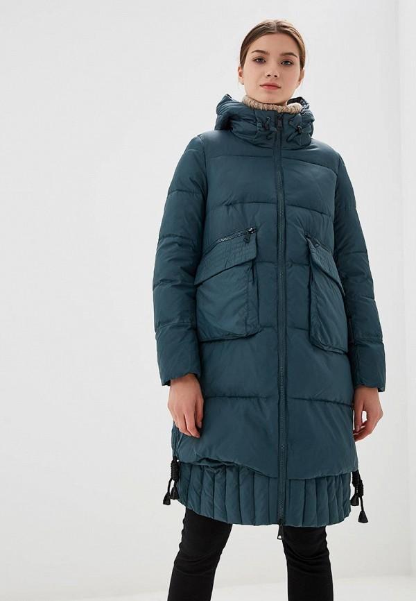 женская куртка ostrich, бирюзовая