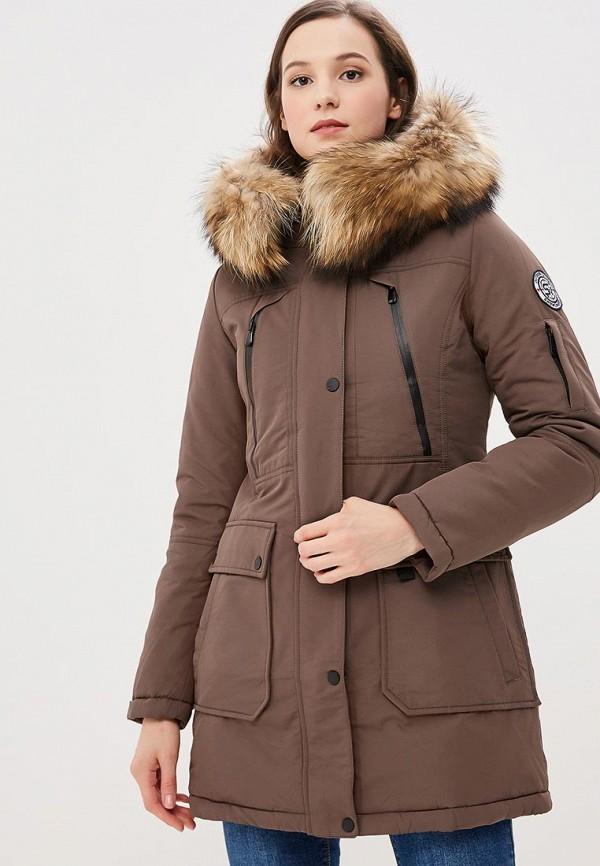 женская куртка snowimage, коричневая