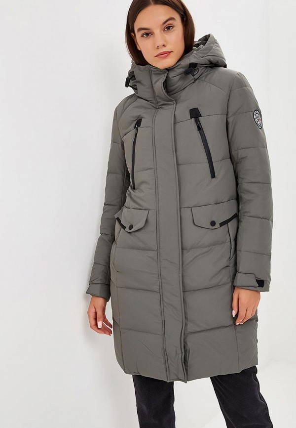 женский пуховик snowimage, серый