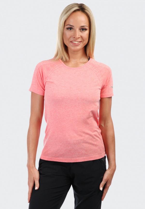 женская спортивные футболка anta, розовая