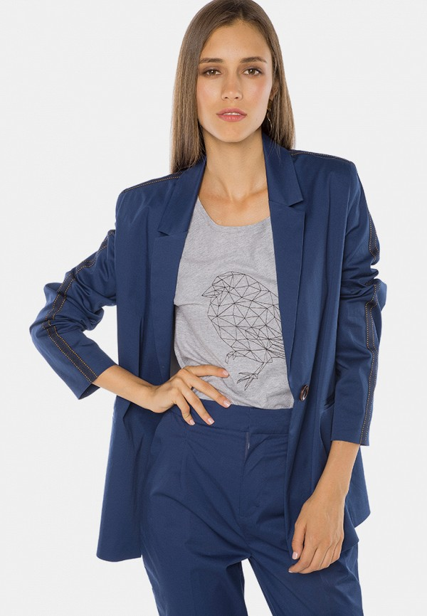 женский пиджак mr520, синий