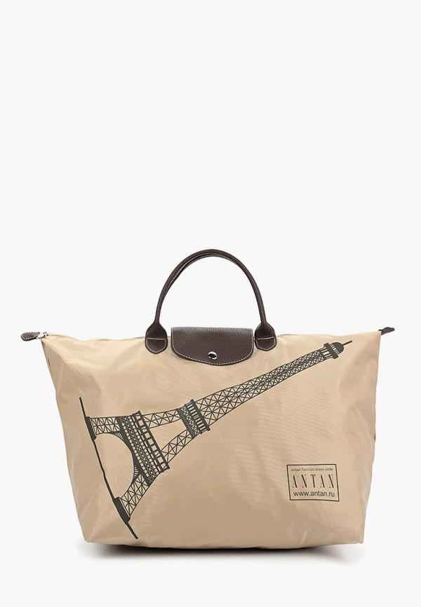 женская дорожные сумка antan, бежевая