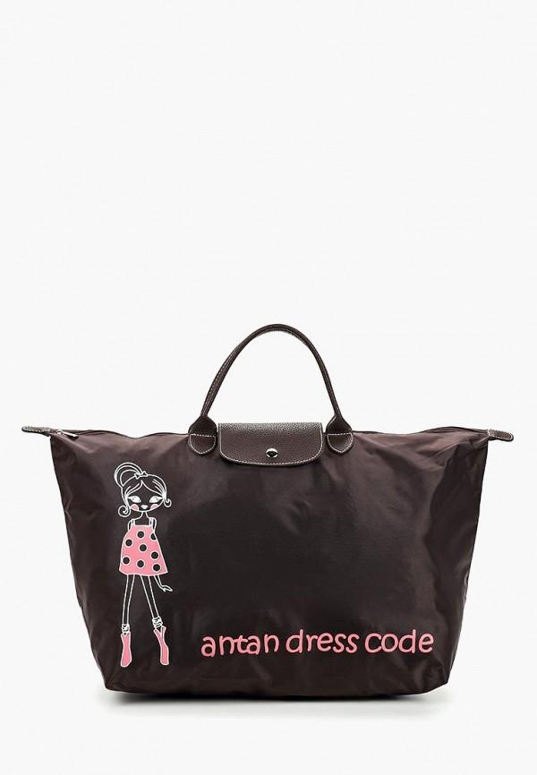 женская дорожные сумка antan, коричневая
