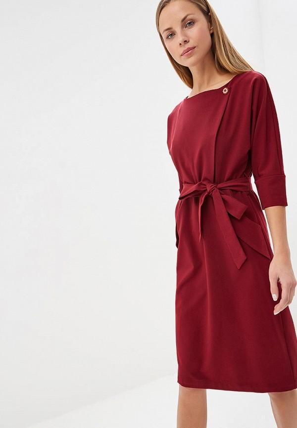 женское вечерние платье bezko, бордовое