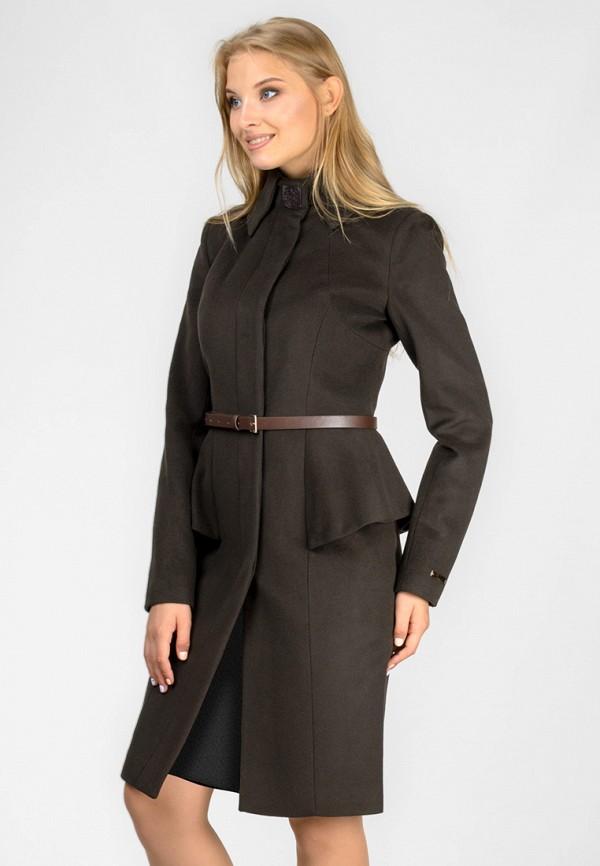 женское пальто raslov, коричневое