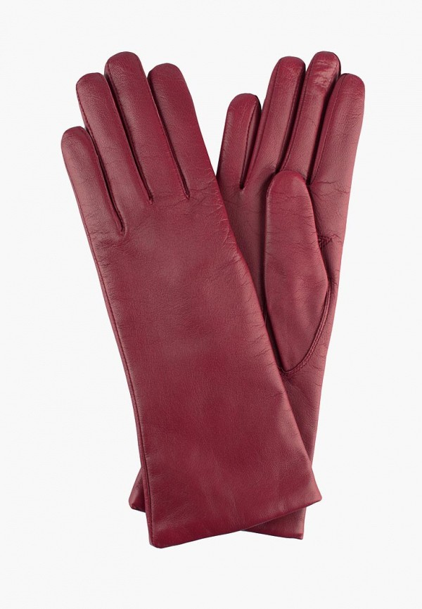 женские кожаные перчатки edmins, бордовые