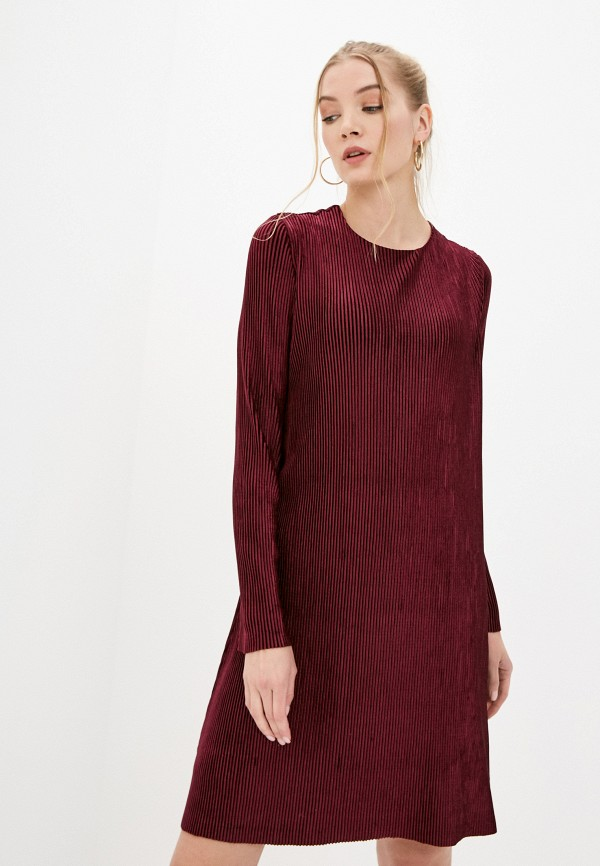 женское повседневные платье cavo, бордовое
