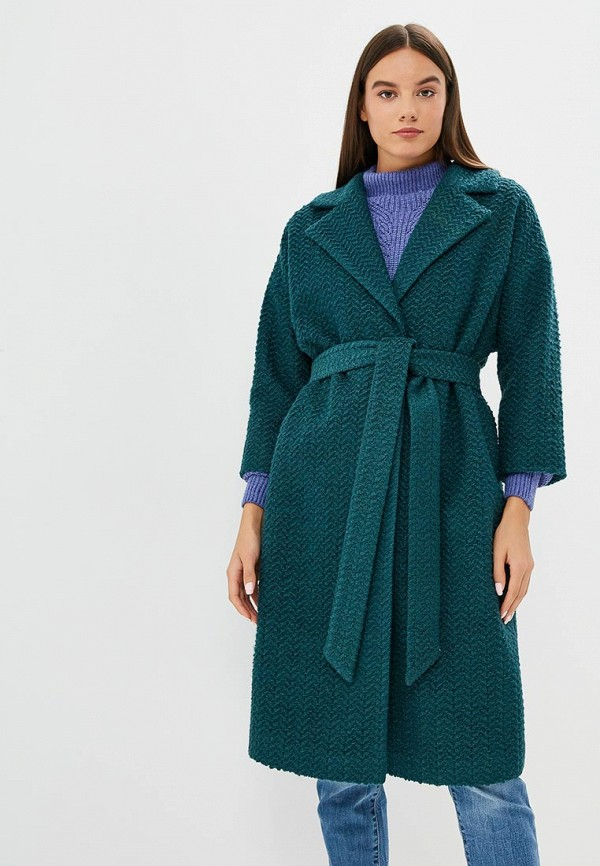 женское пальто ruxara, зеленое