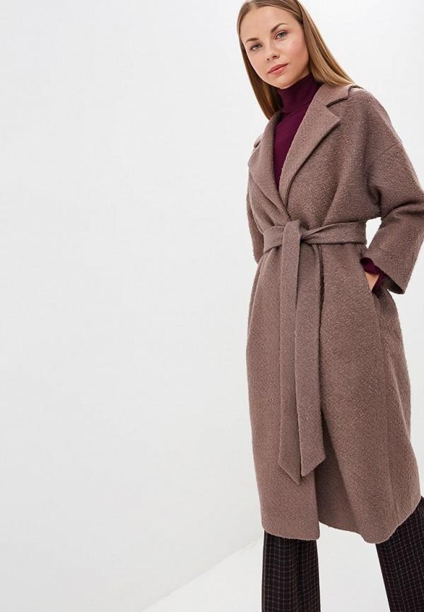 женское пальто ruxara, коричневое