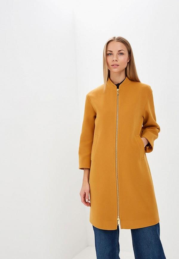 женское пальто ruxara, желтое