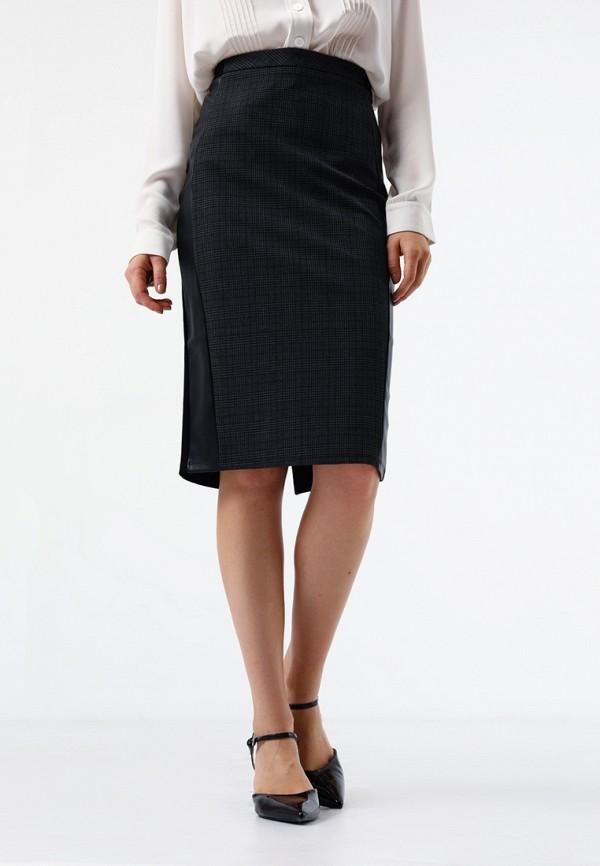 женская зауженные юбка lime, черная