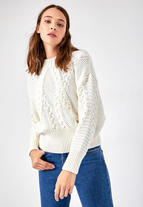 женский свитер lime, белый