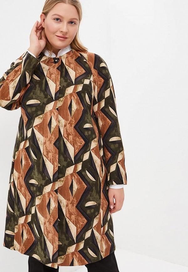 женское пальто olsi, коричневое