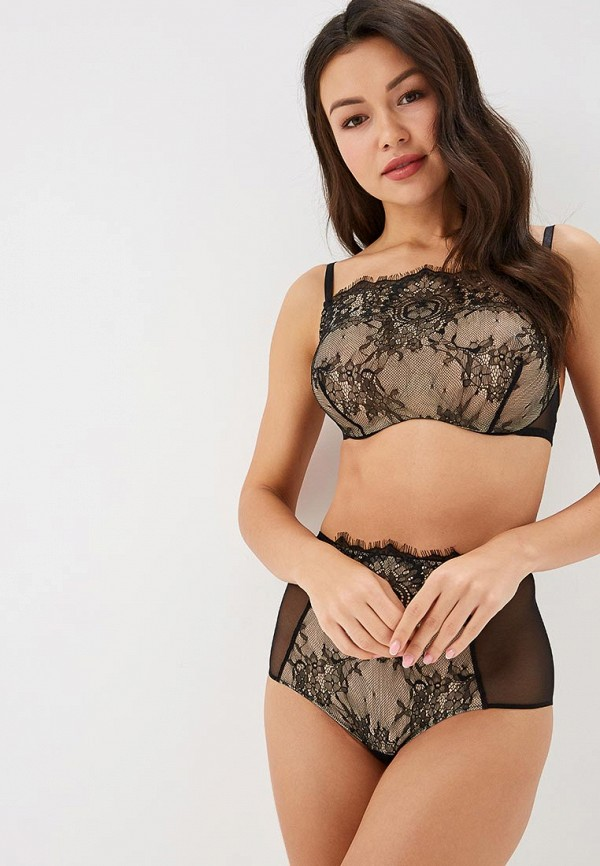 Бюстгальтер LA DEA lingerie & homewear LA DEA lingerie & homewear MP002XW1GWUF sexy black lace hem lingerie with no falsies