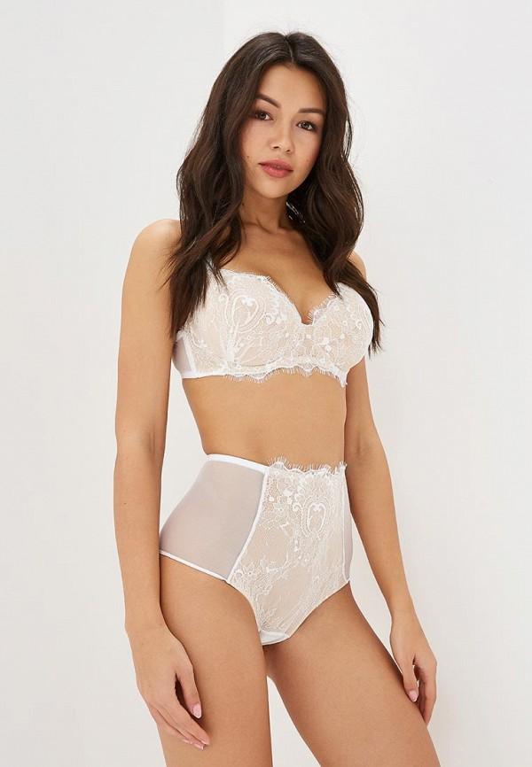 Трусы LA DEA lingerie & homewear LA DEA lingerie & homewear MP002XW1GWUJ sexy white lace hem lingerie with no falsies